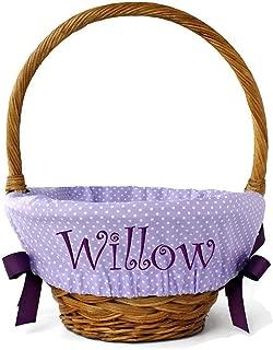 Personalized Easter Basket Chocolate Bunny Rabbit Design Bucket Pail Large 10 Quart Size