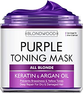 Sponsored Ad - Purple Hair Mask with Retinol & Keratin - Made in USA - for Blonde, Platinum & Silver Hair - Banish Yellow ...