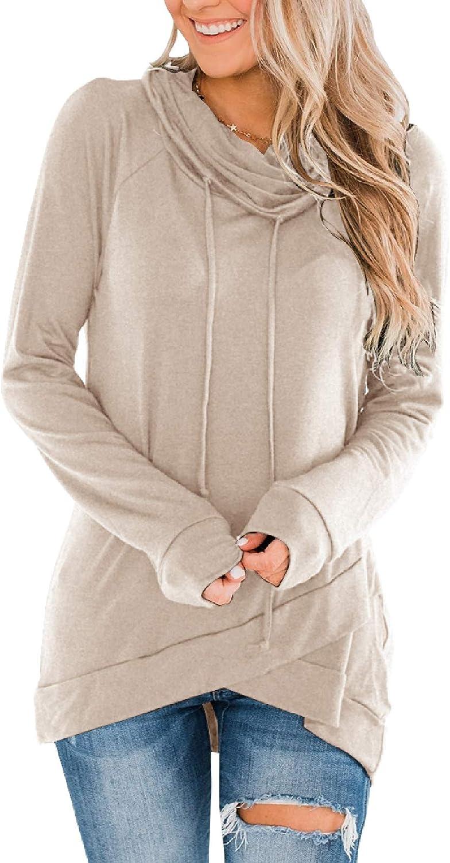Fallorchid Womens Long Sleeve Pullovers Tunic Cowl Tops trust Cas Neck Tulsa Mall