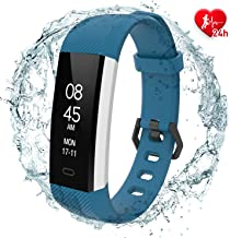 Fitpolo Fitness Tracker - Slim Waterproof Smart Watch with Heart Rate Monitor, Activity Tracker with Step&Calorie Counter, Sleep Monitor,Pedometer, Call/SNS Remind for Kids Women Men
