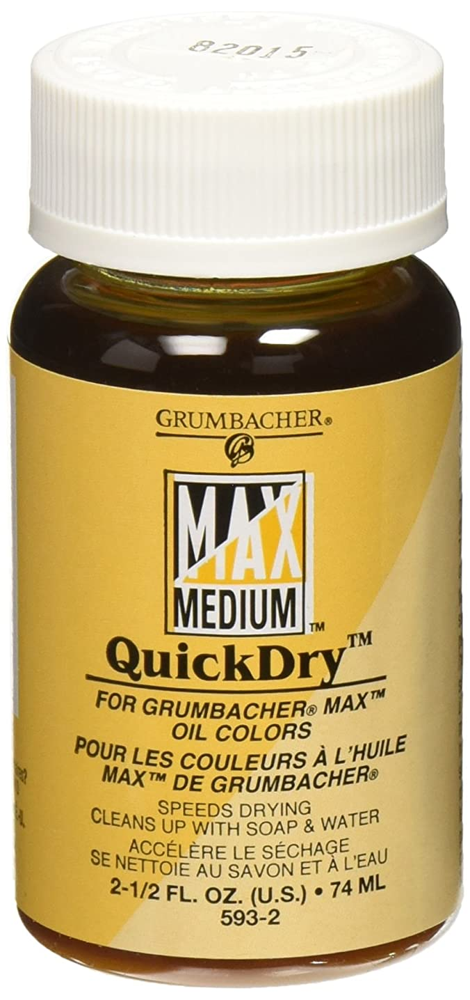 Grumbacher Quickdry Medium for MAX Water-Mixable Oil Paints, 2-1/2 Oz. Jar, #5932