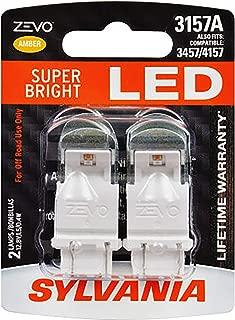 SYLVANIA - 3157 ZEVO LED Amber Bulb - Bright LED Bulb, Ideal for Park and Turn Lights (Contains 2 Bulbs)