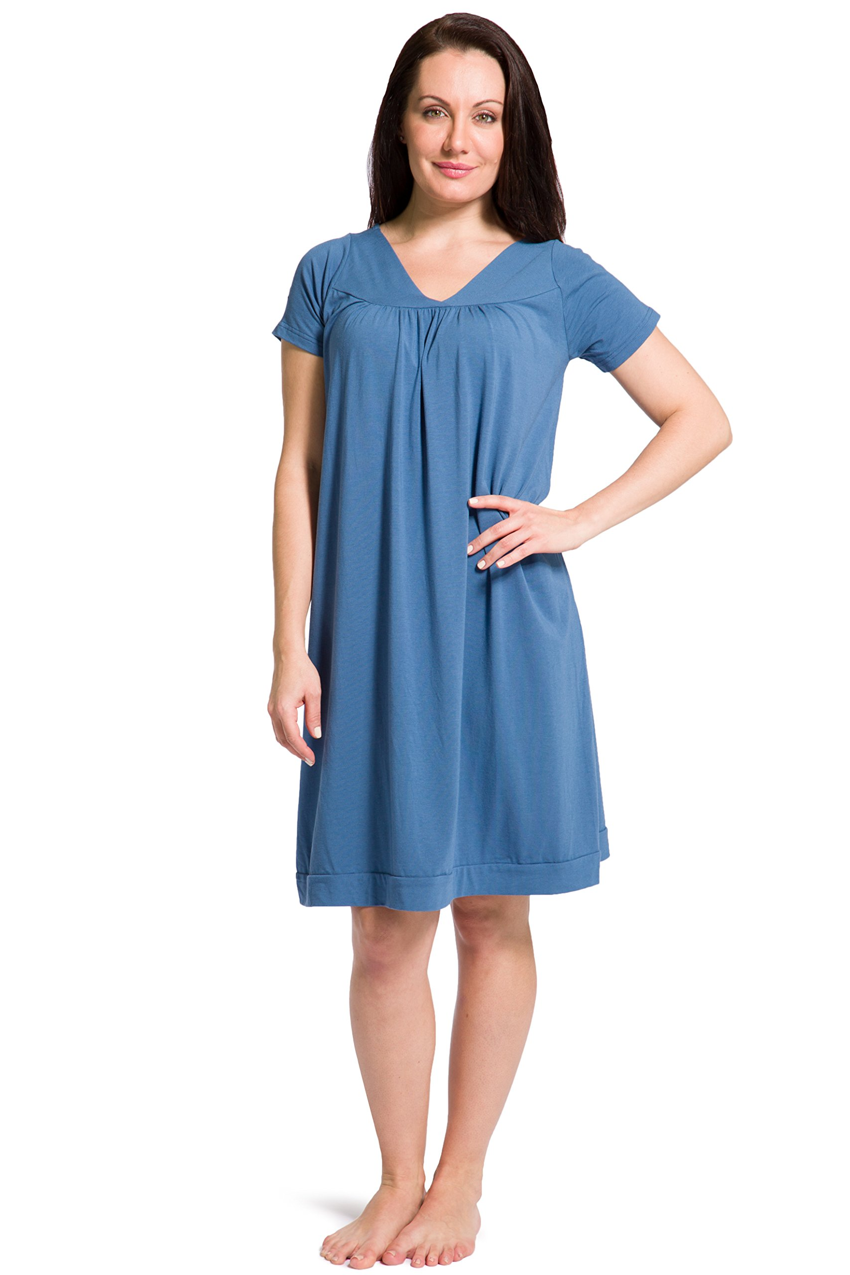 Fishers Finery Women's Tranquil Dreams Short Sleeve Nightgown