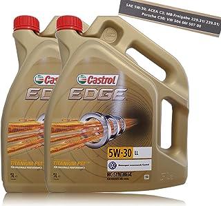2bidones de 5 litrosde aceite para motor Castrol