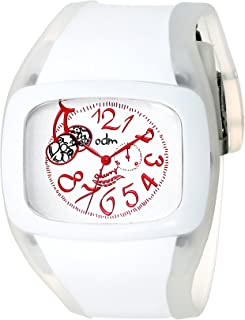 o.d.m. Womens DD100A-2 Play Series White and Pink Watch