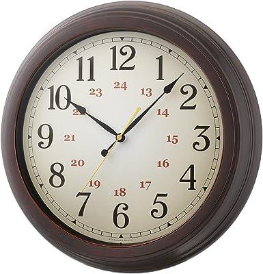 ノア精密 アナログ 電波 掛時計 エクストラルクラッシック W-716 BR-Z