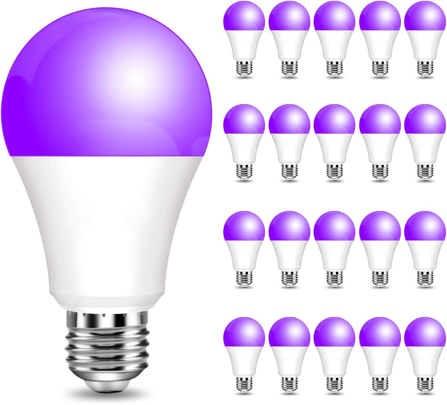 20 Ranking TOP3 Pack 9W led Max 52% OFF Black Light Lights Bulb Base A19 E26 Screw