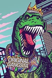 T Rex Original Gangsta Funny Cubicle Locker Mini Art Poster 8x12