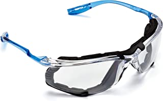 3M Safety Glasses, Virtua CCS Protective Eyewear 11872, Removable Foam Gasket, Clear Anti-Fog Lenses, Corded Ear Plug Control System