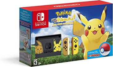 Nintendo Switch Console Bundle- Pikachu & Eevee Edition with Pokemon: Let's Go,..