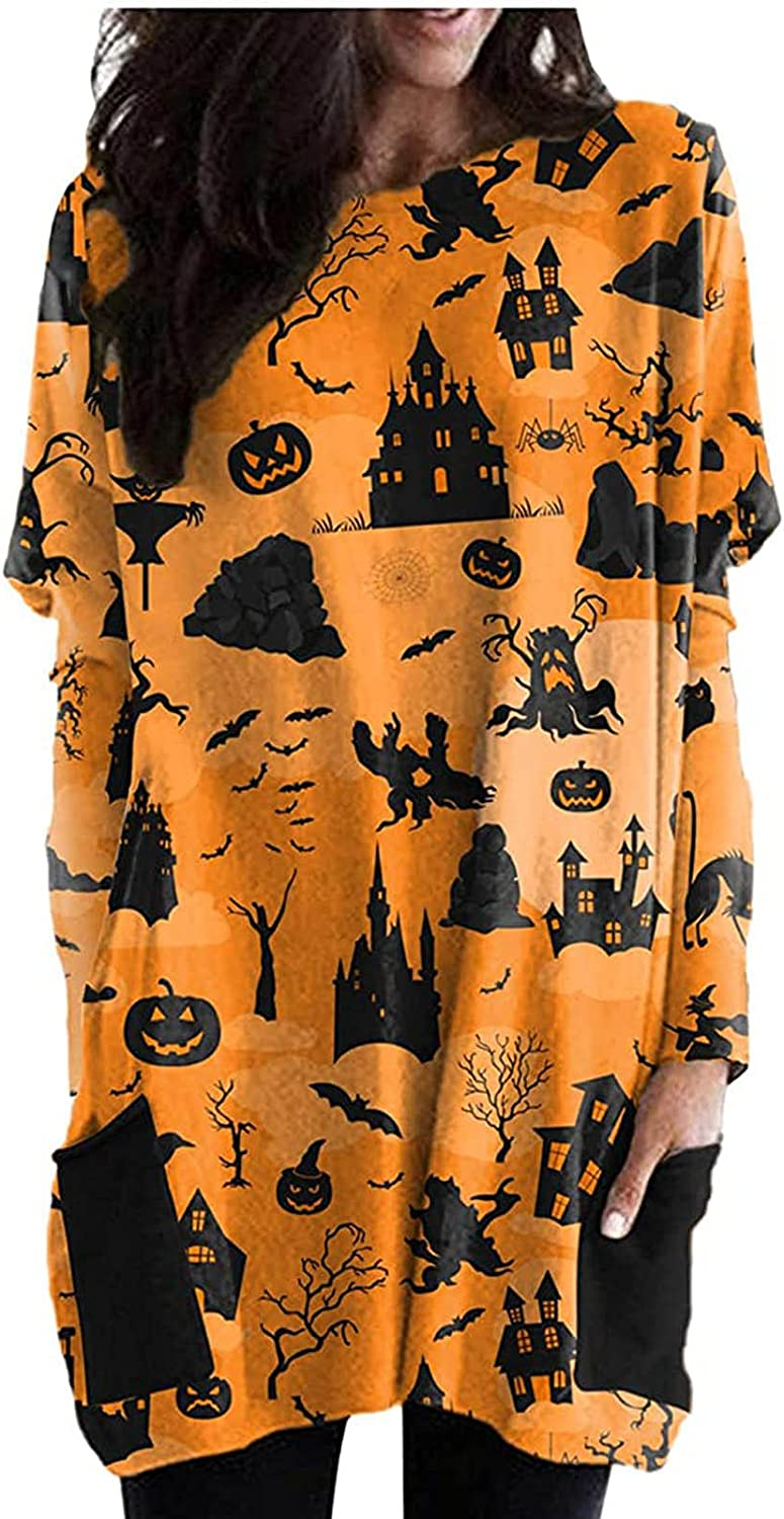 Womens Halloween Costumes Tops Loose Sweatshirt Slee Shipping included Cheap super special price Ladies Long