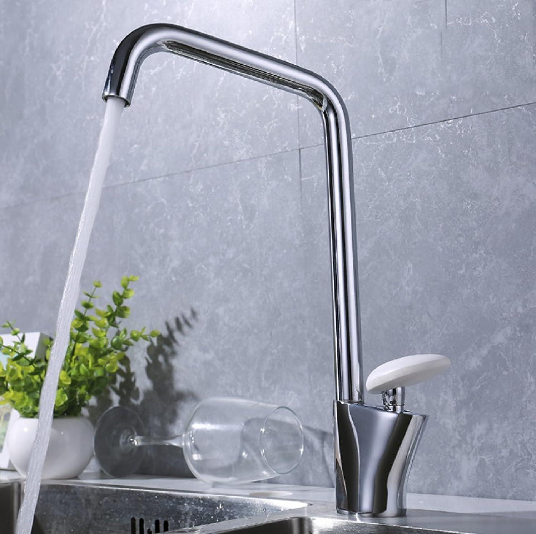 HH faucet Full Plating Chrome Copper Single Hot Sink Faucet Hardware Bathroom Kitchen Basin Faucet Mixer Kitchen Faucet Single-Link