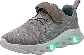 Boys Girls 11 Colors LED Light Up Running Shoes for Kids USB Flashing Sneakers