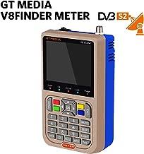 GT Media V8 Satellite Finder Signal Meter Upgraded TV DVB-S2/S2X Receiver Sat Detector, HD 1080P Free to Air FTA 3.5