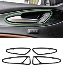 Herben for Alfa Romeo Giulia Stelvio 2017 Car-Styling Aluminum Interior Door Bowl Cover Trim Accessories Set of 4pcs Red