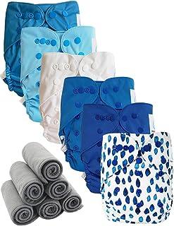 Go Eco Lot de 3 inserts de couches r/éutilisables en microfibre de bambou charbon