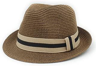Sunhat Sun Hat Fashio Wheat Sun Hat Graceful Queen Homburg Panama Hat Gentleman (Color : Coffee, Size : 56-58cm)