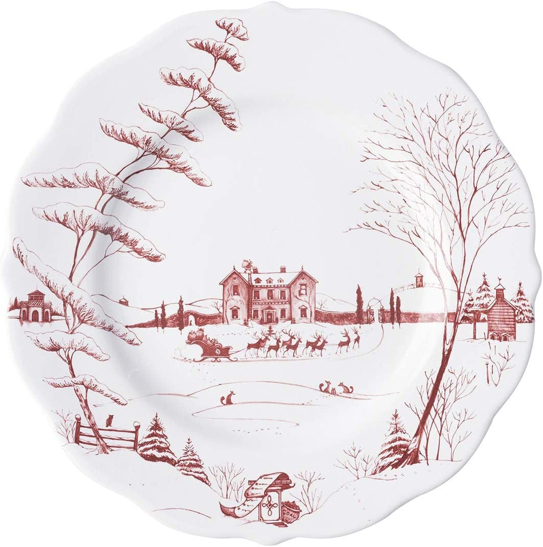 Juliska Country Estate National products Special price Winter Frolic Christmas Ruby Plate Dinner