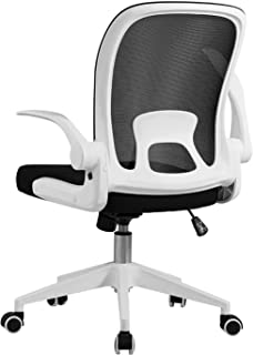 Office chair,Herui Desk chair Easy to assemble Mesh chair Flip-up armrest Office chair with thick cushion 360 degree rotat...