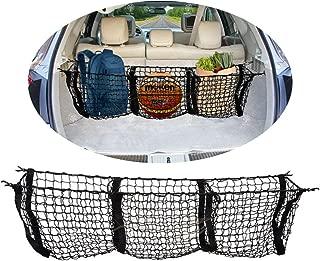 VaygWay Mesh Three Pocket Net- Truck Bed Cargo Net Organizer- Trunk Storage Stretchable Net Car- SUV Pickup Truck Bed Divider  Organizers