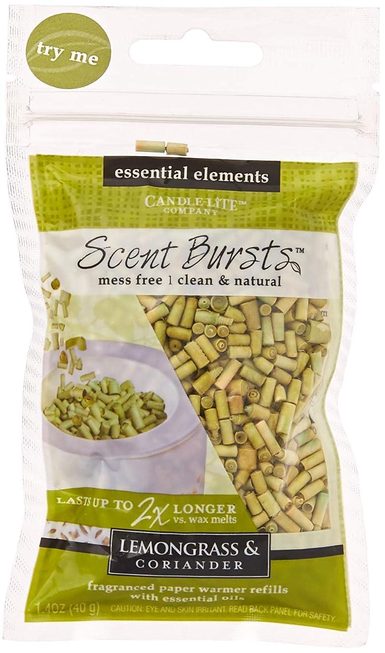 ケープブース後ろ、背後、背面(部candle-lite Essential要素クリーン&ナチュラル香りバースト用紙Warmer Refillsより2?x長持ちワックス Lemongrass & Coriander 4 Pack グリーン