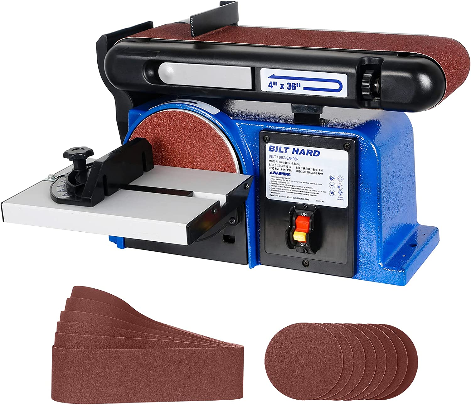 Bombing All items in the store new work BILT HARD Belt Disc Sander Combo 4 x and Inch Di 36 6