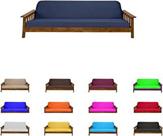 Futon Mattress Cover Solid Color Choose Color and Size Twin Full Queen (Twin (6