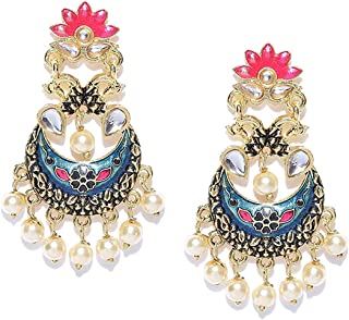 ca515fda2 Tarbiya Kraft Meenakari Fashion Trendy Stylish Earrings for Women and Girls
