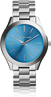 Michael Kors Runway Watch For Women - Analog Stainless Steel Band - Mk3292, Silver Band