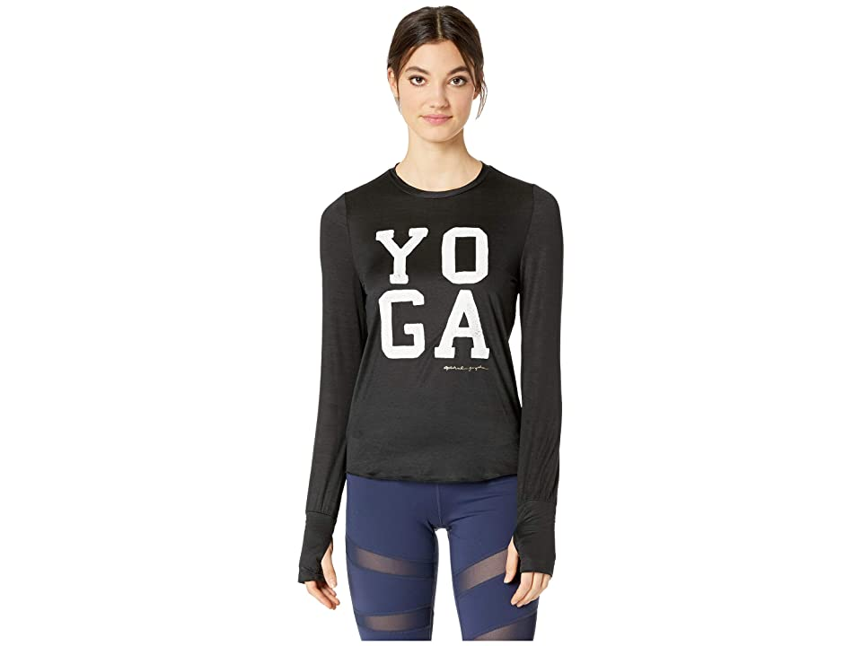 Spiritual Gangster Yoga Active Long Sleeve (Black) Women