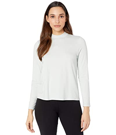 Eileen Fisher Mock Neck Long Sleeve Top (Clearwater) Women