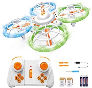 Sourcingbay RC Drone for Kids - Mini Kids' Drones with A Remote Control - Small 2.4Ghz 4CH LED Toy Quadcopter for Beginners - Drop Resistant, Altitude Hold & Longer Flight Time - Kid & Hobbyist Gift