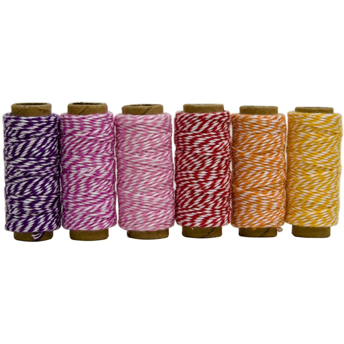 Hemptique Cotton Max 81% OFF Bakers Twine Mini Spool Bag Spr Pkg Set 6 2 Ply Super intense SALE