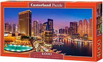 CASTORLAND Marina Pano, Dubai 4000 pcs Puzzle - Rompecabezas (Dubai 4000 pcs, Puzzle Rompecabezas, Ciudad, Niños y Adultos, Niño/niña, 9 año(s), Interior)