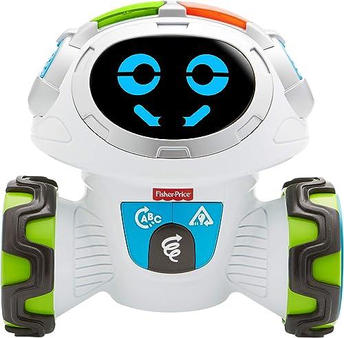 Fisher-Price Mouvi le Robot Interactif, Jouet Enfant Sons et Lumières, Jeux, pour des Apprentissages Préscolaires, 3 ...