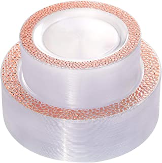 Best rose gold clear plastic plates Reviews