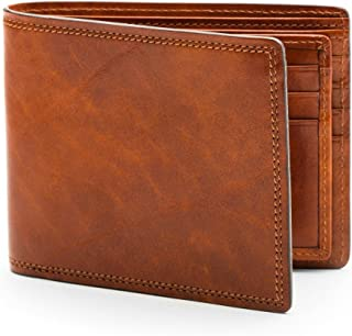 Bosca Mens Dolce Collection - Eight-Pocket Deluxe Executive Wallet w/Passcase Amber Wallets