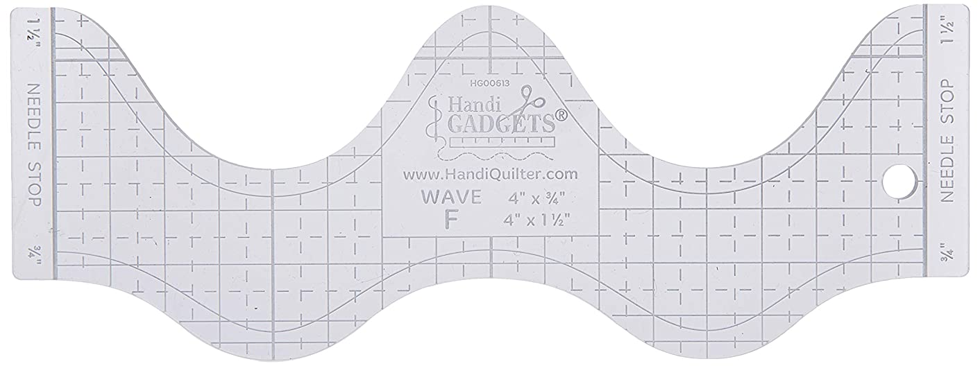 Handi Quilter, Inc Wave F Ruler Clear