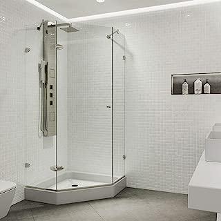 two sided glass tub enclosure