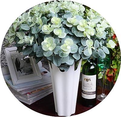 H Q 48cm Artificial Eucalyptus Leaf Green Plant Branches Flower Arranging Accessories Money Leaves Home Decoration