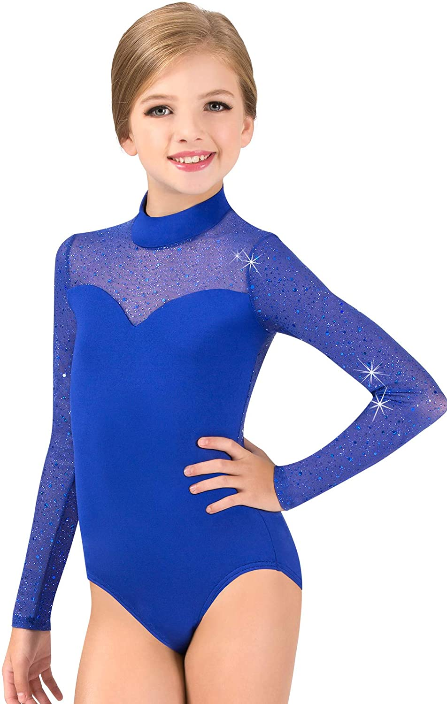 Girls Los Angeles Mall Performance Twinkle 35% OFF Mesh Mock Neck Leotard TW3 Sleeve Long