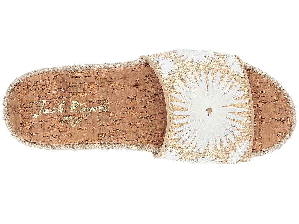 Jack Rogers Bettina Slide (Natural/White) Women's Slide Shoes, Beige