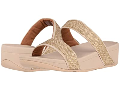 FitFlop Lottie Shimmer Crystal Slide (Artisan Gold/Frappe) Women