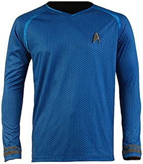 Cosparts Into Darkness Spock Blue Man's Uniform T-Shirt