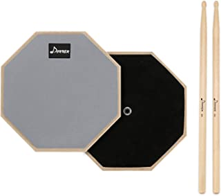 Donner 8 Inches Drum Practice Pad 2-Sided Silent Drum Pad...