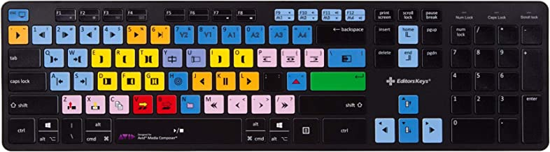 Wireless Avid Media Composer Keyboard | Shortcut Keyboard for PC - Works on Mac Too | Editors Keys