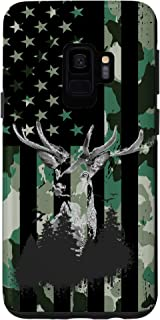 Galaxy S9 Whitetail Buck Deer Hunting American US Flag camouflage Case
