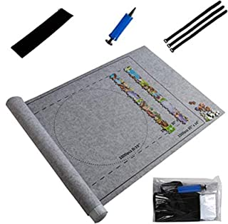 HOOME Jigsaw Portable Puzzles Mat Jigsaw Roll Felt Mat Play Storage Mat, Puzzles Blanket for Up to 1500 Pieces Puzzles Tra...