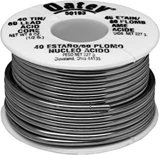 Oatey 50193 Acid Core Wire Solder, 0.5 Lb Carded, Solid, Gray, 1/2 lb, Silver