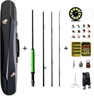 NetAngler Fly Fishing Rod and Reel Combo,  4-Piece Rod 5/6 CNC Machined/Aluminum Alloy Reel Fly Fishing Complete Starter Package with Carry Bag